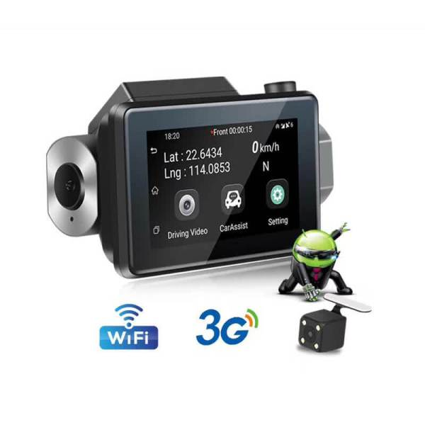 Android Dash Cam Car DVR Camera GPS Logger 3G WiFi Dual Lens WDR Video Recorder 5.1 Rearview camera Vcan1608 1 -