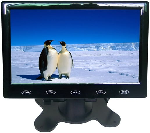 VCAN0989 7inch Car slim design Digital stand LCD Monitor with Touch botton 1 -