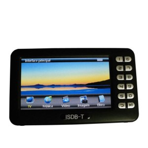 ISDBT Mini TV Receiver With 4.3 inch LCD Screen for ISDB-T Support TF Card USB Video FM Digital TV Player Box