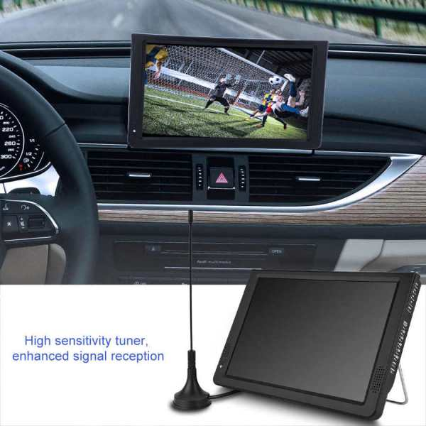 LEADSTAR 12 inch HD Portable TV ISDB-T USB Digital Television Mini Car TV Audio Video Player Support MP4 Monitor EU Plug 3 -
