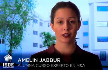 Testimonio de Amelin Jabbur sobre el Curso de Experto en M&A.
