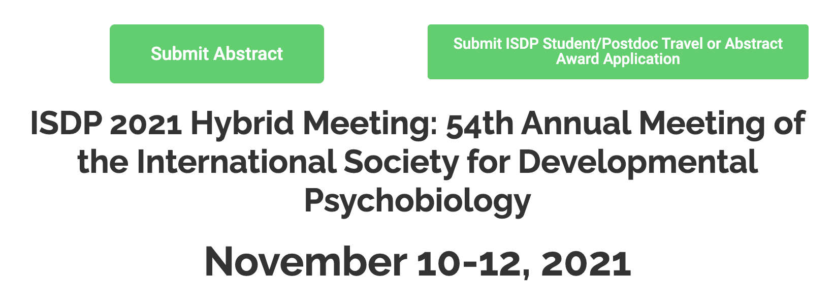 Submit Abstracts for ISDP 2021 Hybrid Meeting by June 15th