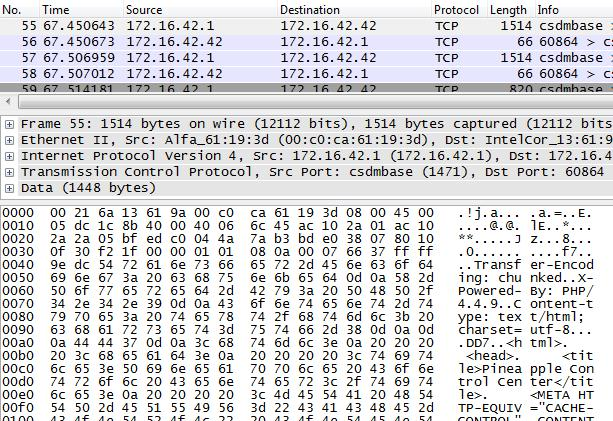 Monitoring with Wireshark