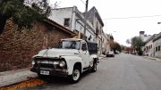 Montevideo old white truck