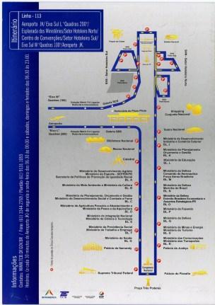 Brasilia bus map printable routes