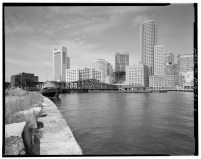 Fort Point Channel Bridge Boston harbor