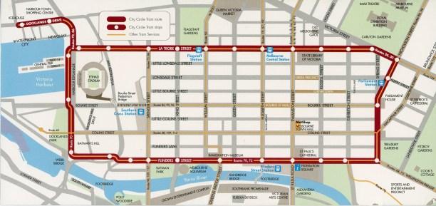 Melbourne Circle Line free tram
