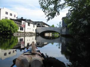 Saranac New York bridge kayak