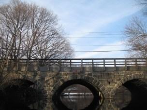 Kayak - upper falls and Needham stone bridge