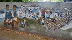 Buenos Aires soccer mural