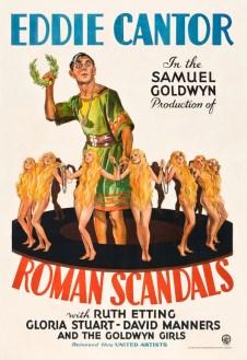 Eddie Cantor Roman Scandals 1933 Goldwyn Girls color poster