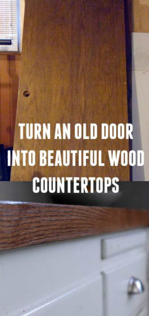 How To Turn An Old Wood Door Into A Stunning Budget