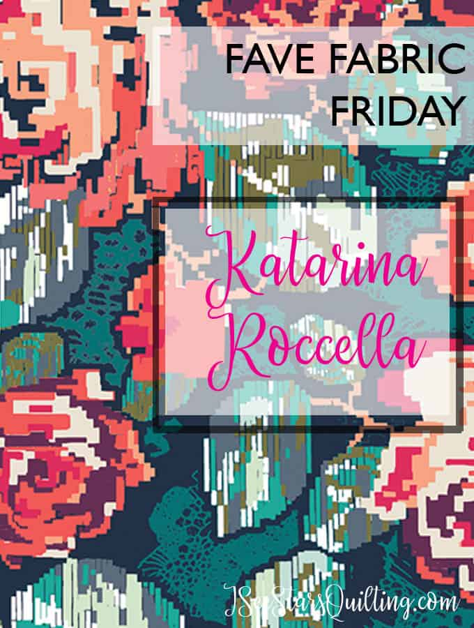Fabric designer Katerina Roccella creates beautiful floral designs for quilting and sewing. love her floral inspirations! www.iseestarsquilting.com