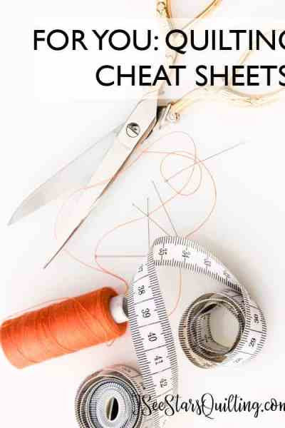 These helpful Cheat Sheet Charts will be your secret weapon in the sewing room! - And they're so cute too!