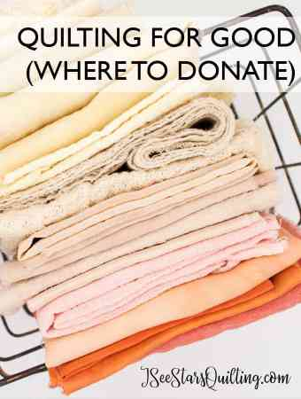 looking for a way that you can give back and use those quilting skills? - I've put together a big list of places that you can feel good about contributing to to donate your finished (and partial) quilts!