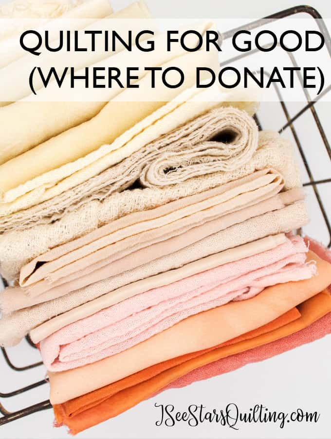Quilting For Good - Where to Donate Quilts