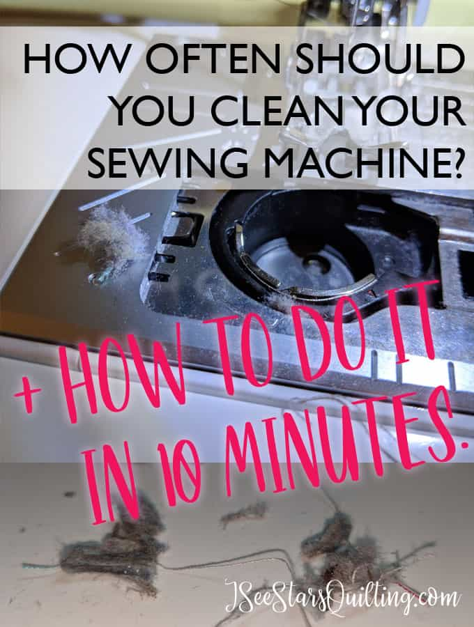 This super easy tutorial will tell you everything you need to know to give your sewing machine a quick clean and tell yo how often you should clean your sewing machine too! - Hint, you have most everything you need in your bathroom!