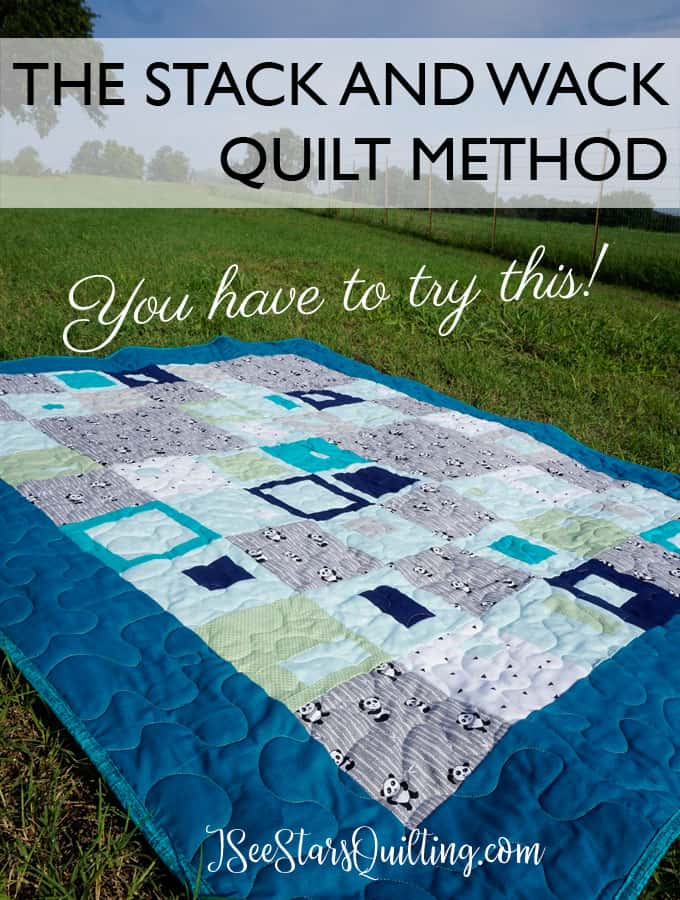 The Stack and Wack Quilt Method is a method that doesn't require precise piecing and allows for whimsy to take place. Check out this FREE tutorial and see how easy it is to make your own Stack and Wack quilt!