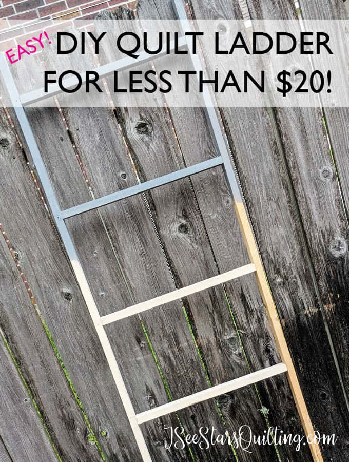 This easy DIY Quilt Ladder is a project you can make! Don't pay high prices. Check out this step by step tutorial!