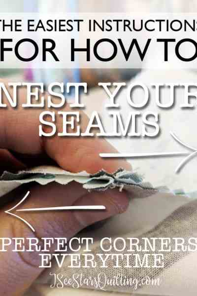 Nesting your seams is a VITAL tool in quilting. It will help you get that finished and polished look on your quilt and cut out those rookie mistakes where your corners shift and seams don't line up. This is an easy trick that any quilter can use! Try it out on your next quilt. You won't be sorry!
