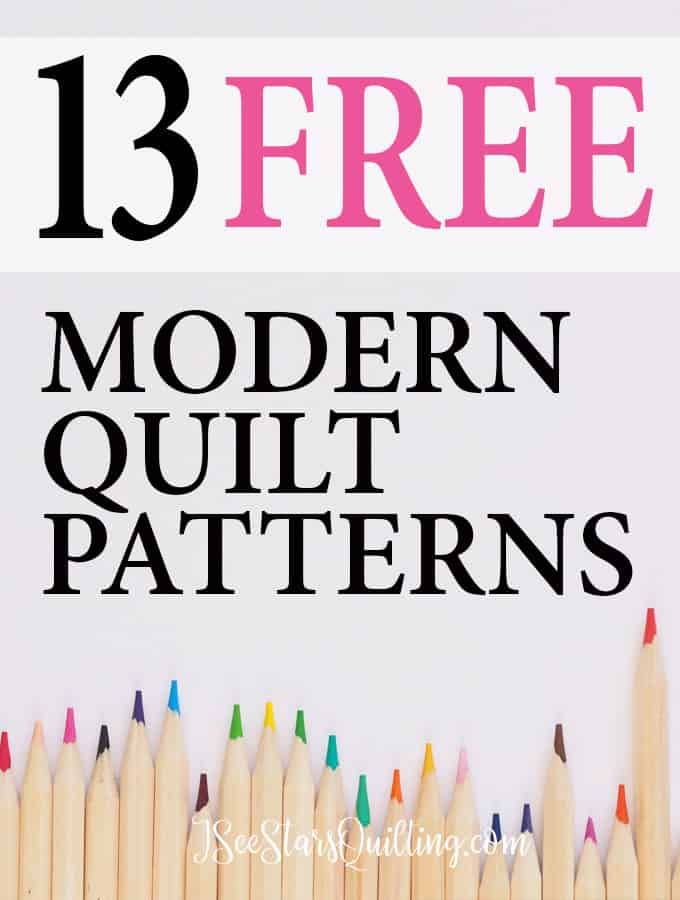 13+Free Quilt Patterns to tickle your quilting fantasies! You can snag these 13 FREE modern Quilting Patterns today and be sewing before you know it!