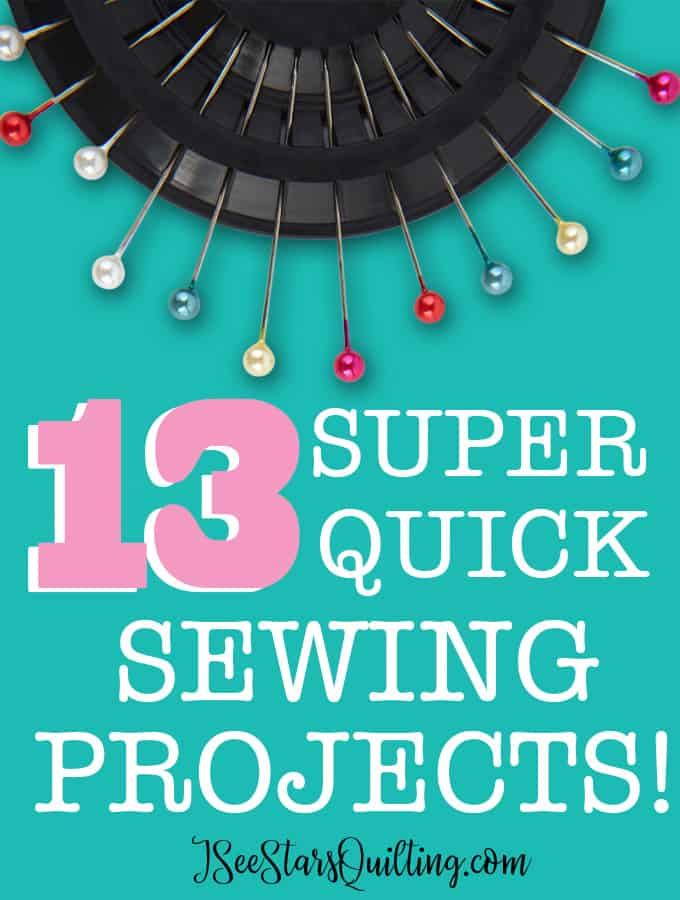 These Quick Sewing Projects are going to rock your world! There are tons of ideas and ways to use up your scrap fabric as well as give you quick satisfaction and maximum gratification! I LOVE sewing!