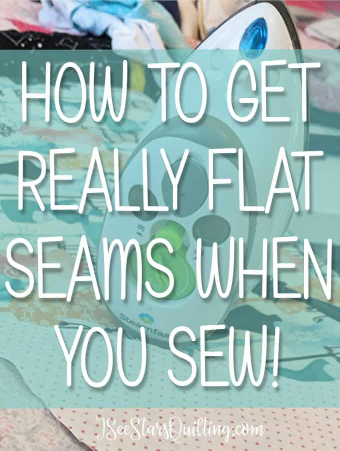 Learn how to get really flat seams when you sew with just a few simple steps, and a tool you already have in your house right now!