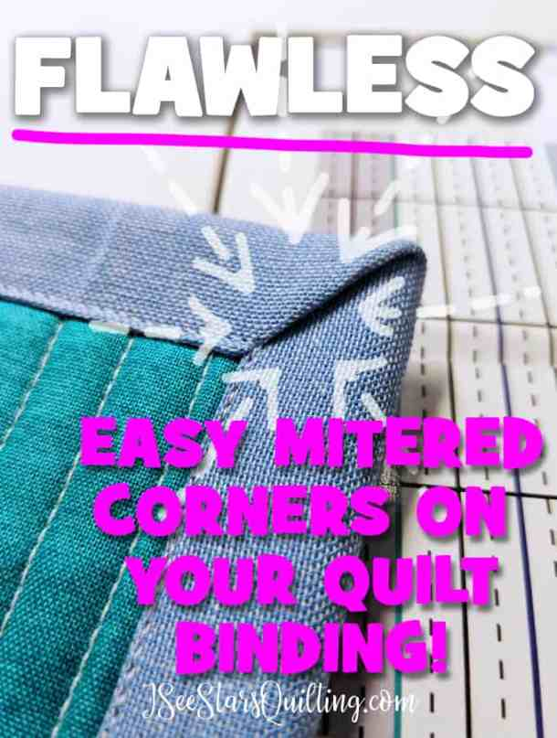 A step by step tutorial with a video and photos to show you how to create a mitered corner in your quilt binding! Don't get frustrated, I can show you how.
