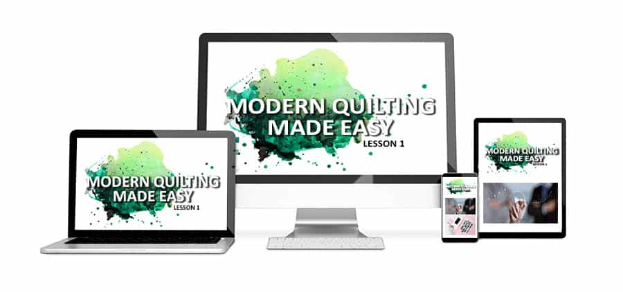 An online video course that teaches the basics of quilting. Every single step shown and explained! We'll make a quilt together!