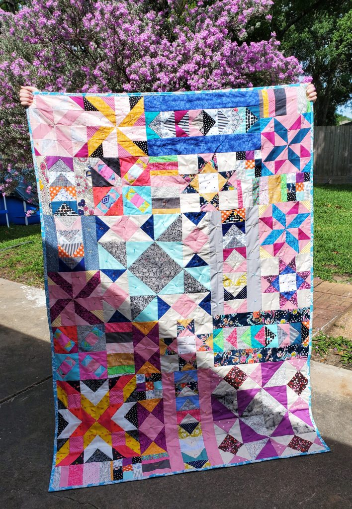 This is the Stardust pattern by ISeeStarsQuilting. It is a block of the month pattern that takes place over 9 months complete with video instructions! I'll be there to help you every step of the way.