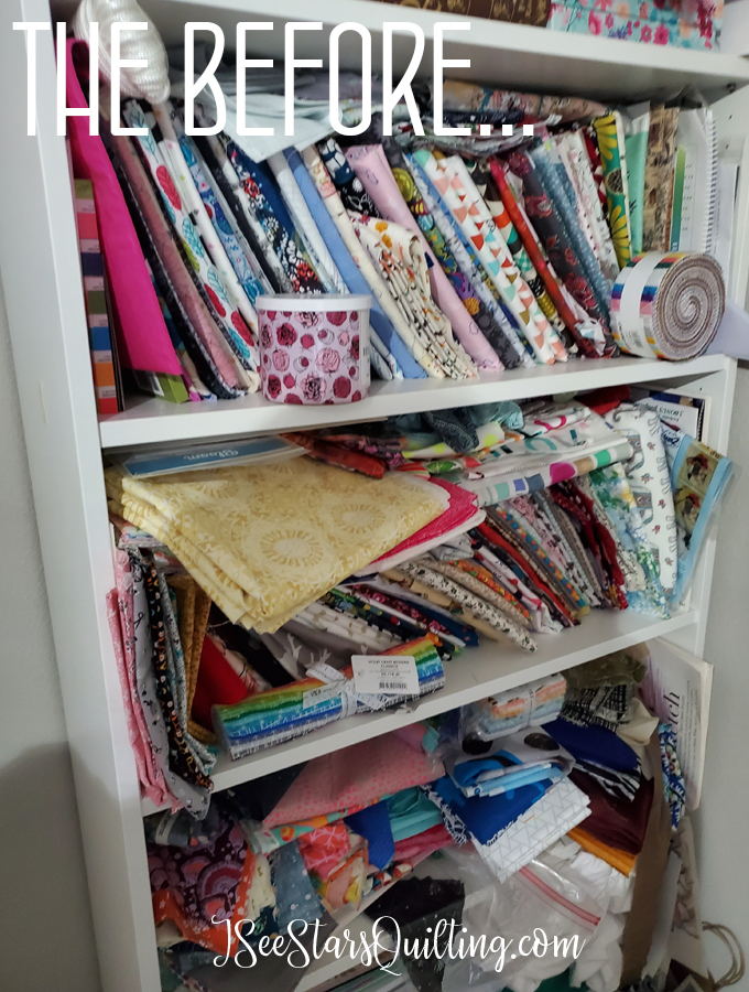 Check out these tips and tricks that I have to share with you on the best way to fold and store your fabrics! Plus I have a new video to share!