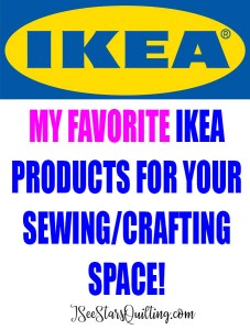 My favroite Ikea Products for the sewing room