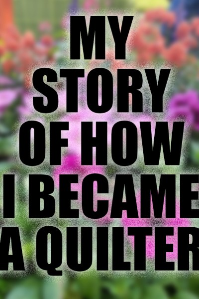 The story and background of how I became a quilter. I'm sharing a little more of what lead up to my job as a quilt blogger!