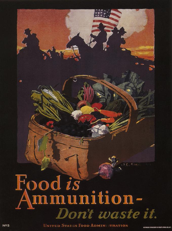 Vintage Poster Food Is Ammunition Don T Waste It