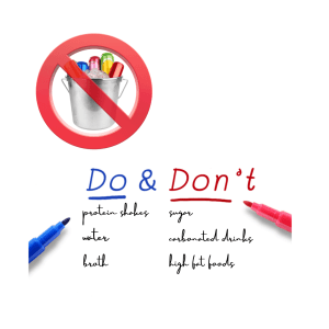 Do and don'ts of bariatric surgery and sugary drinks like soda and other carbonated beverages