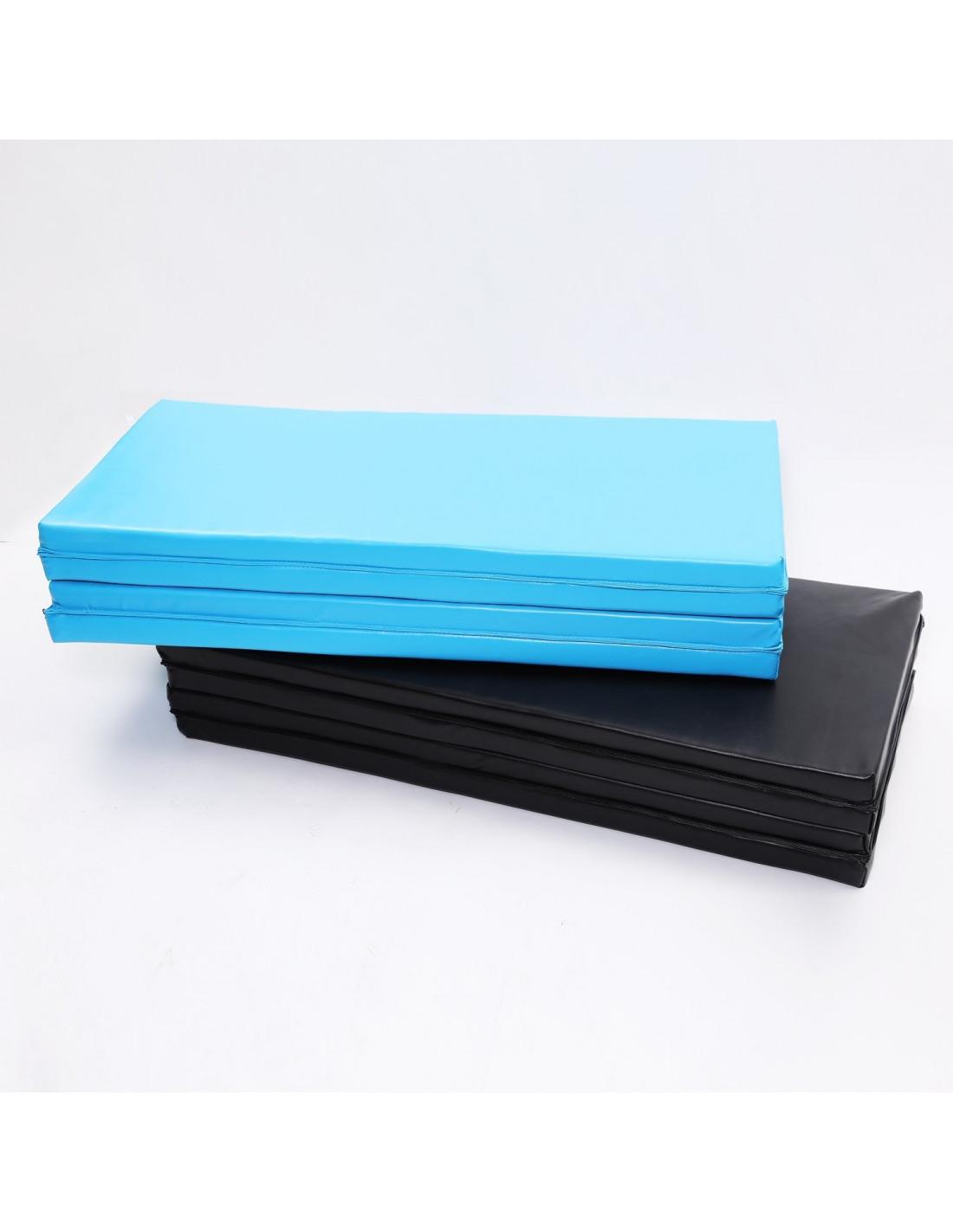 ise tapis de sol tapis de gymnastique pliable natte de gym tapis de yoga 240 x 120 x 5 cm bleu sy 3004 bl