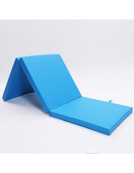 ise tapis de sol pliable 180 x 60 x 5 cm bleu sy3003 bl