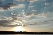Skyer - solnedgang
