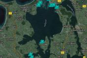 Google-kort med alle badestrande i Isefjorden - Isefjorden.com