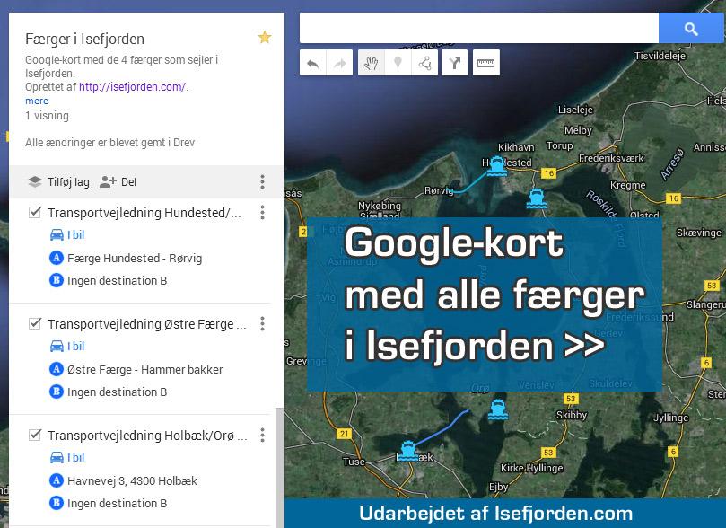 Google Kort Isefjorden Danmark