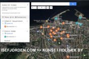 Google-kort med Holbæk art og strett art i Holbæk by