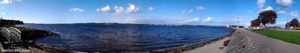 Panoramafoto Holbæk Fjord. Foto: Isefjorden.com