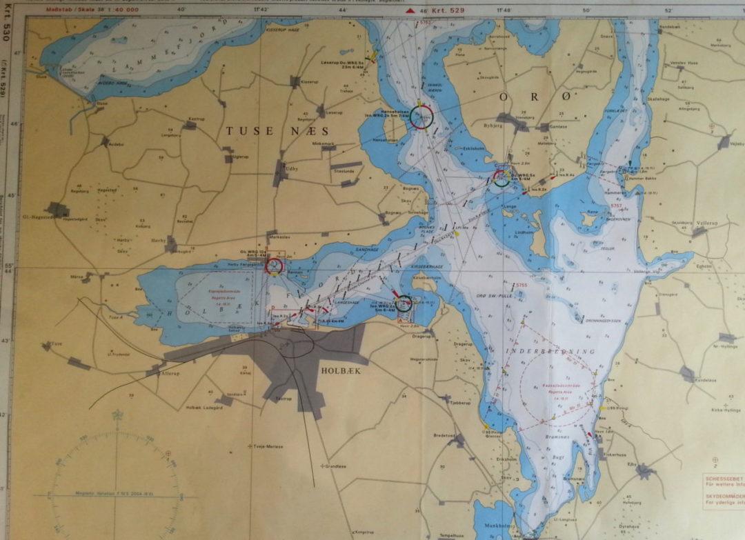 Sokort Isefjord Kort 116 Isefjorden Danmark