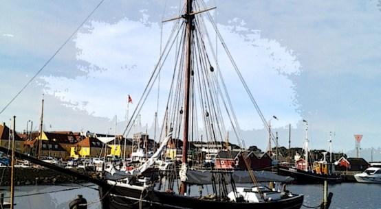Holbæk gammel havn. Foto og grafik: Isefjorden.com