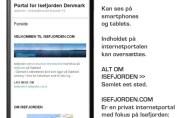 Internetportalen Isefjorden kan ses på håndholdte internet-enheder