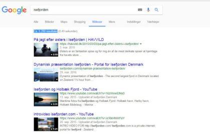 Google søgning Isefjorden - Videoresultater