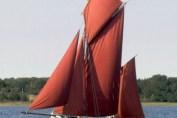 Klassisk sejlskib/erhvervsfartøj i Holbæk Fjord