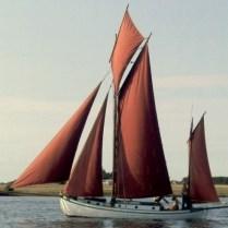 Klassisk Dansk erhvervsfartøj I Holbæk Fjord