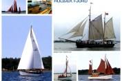 Collage med klassiske sejlskibe fra Holbæk Fjord.