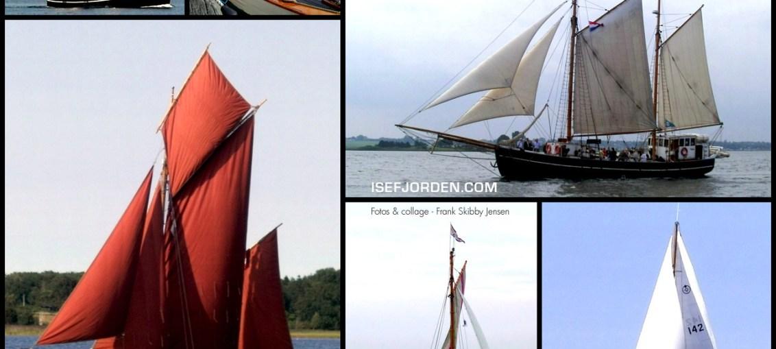 Collage med Klassiske skibe og både i Holbæk Fjord